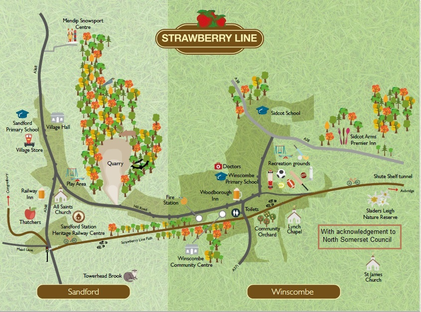 Picture of Strawberry Line route through the Parish